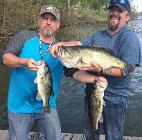Beau and Jeff with the 10.12 lb Big Bass and 1/2 of their winning stringer for Sandlin & Cypress!!