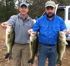 Brian and Kirk with 1st place stringer at Lake Welsh