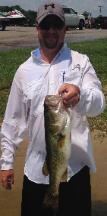 Jeff Chapman with a nice bass to help him take 2nd place at Lake Athens!!