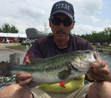 Joey with 2nd place bass on Bonham 05/2015