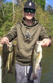 Lee with 3 nice bass from Sandlin!!