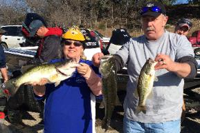 Pam and Victor Wickman with their 11.16 lb stringer to take 2nd place at Squaw Creek