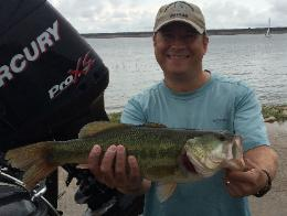Rudi with a nice 4.70 lb bass to help take 3rd place on Lake Grapevine!!