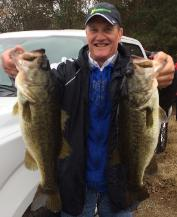Steve with a couple first place beauties and Big Bass!
